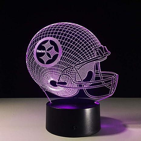 new arrival 16364 fc3af Amazon.com: QIANDONG1 7 Colors Change 3D Led Night Light NFL ...