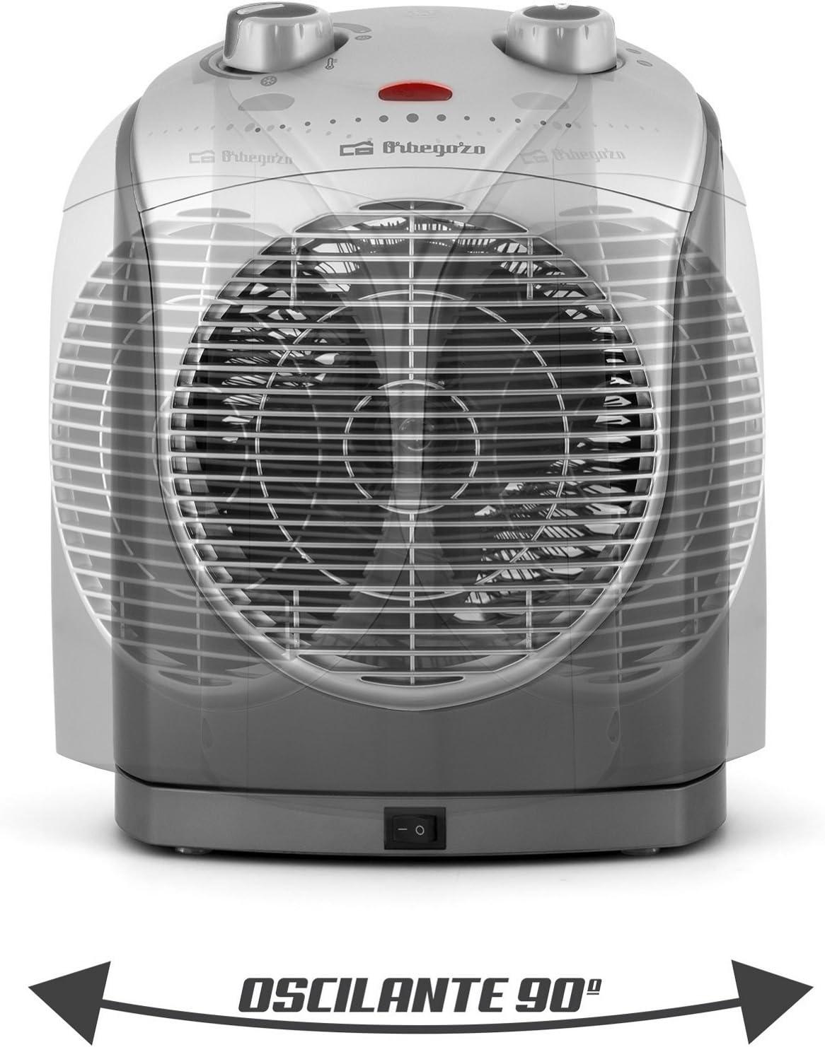 Orbegozo Calefactor FH5022 2200W, 2200 W, Gris y plata: Amazon.es ...