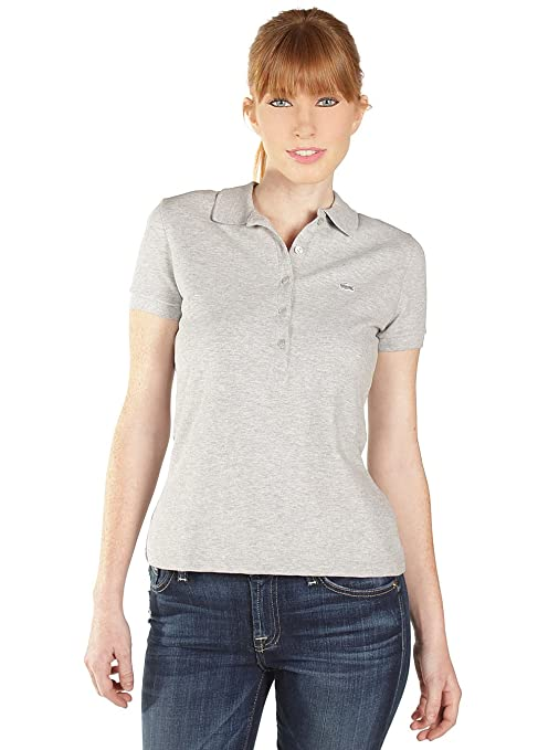 b490199af7 Lacoste Womens Slim Fit Stretch Pique Polo in Silver Grey Chine: Lacoste:  Amazon.ca: Sports & Outdoors