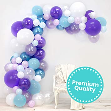 Opening Dance and Adult Bachelor Party Decoration Pink Purple Balloon Arch Garland Kit Double-Layer Thickened Latex Balloon 188PCS Used for Wedding Birthday Holiday Baby Shower Family Dinner