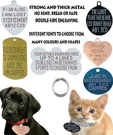 Sucre Tags Placa de identificación para perro, perro, gato y gato, diseño de