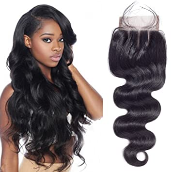 Hair Extensions & Wigs Closures Sunlight Human Hair Brazilian Straight Hair Lace Closure Middle Part Remy Human Hair Closure 4x4 Inch Swiss Lace Top Closure