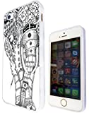 iphone 5 5S Aztec Tribal Elephant Funky Design Case Back cover-Hard Plastic and Metal-White Frame