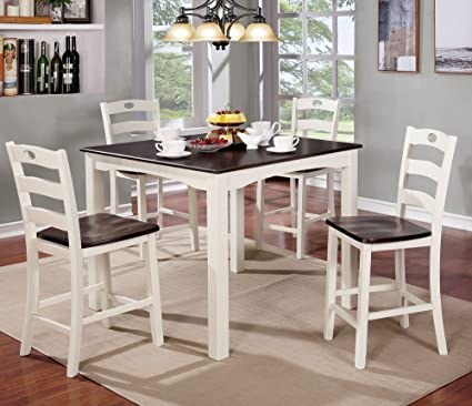 Amazoncom Liliana 5 Pc White Counter Height Table Set By