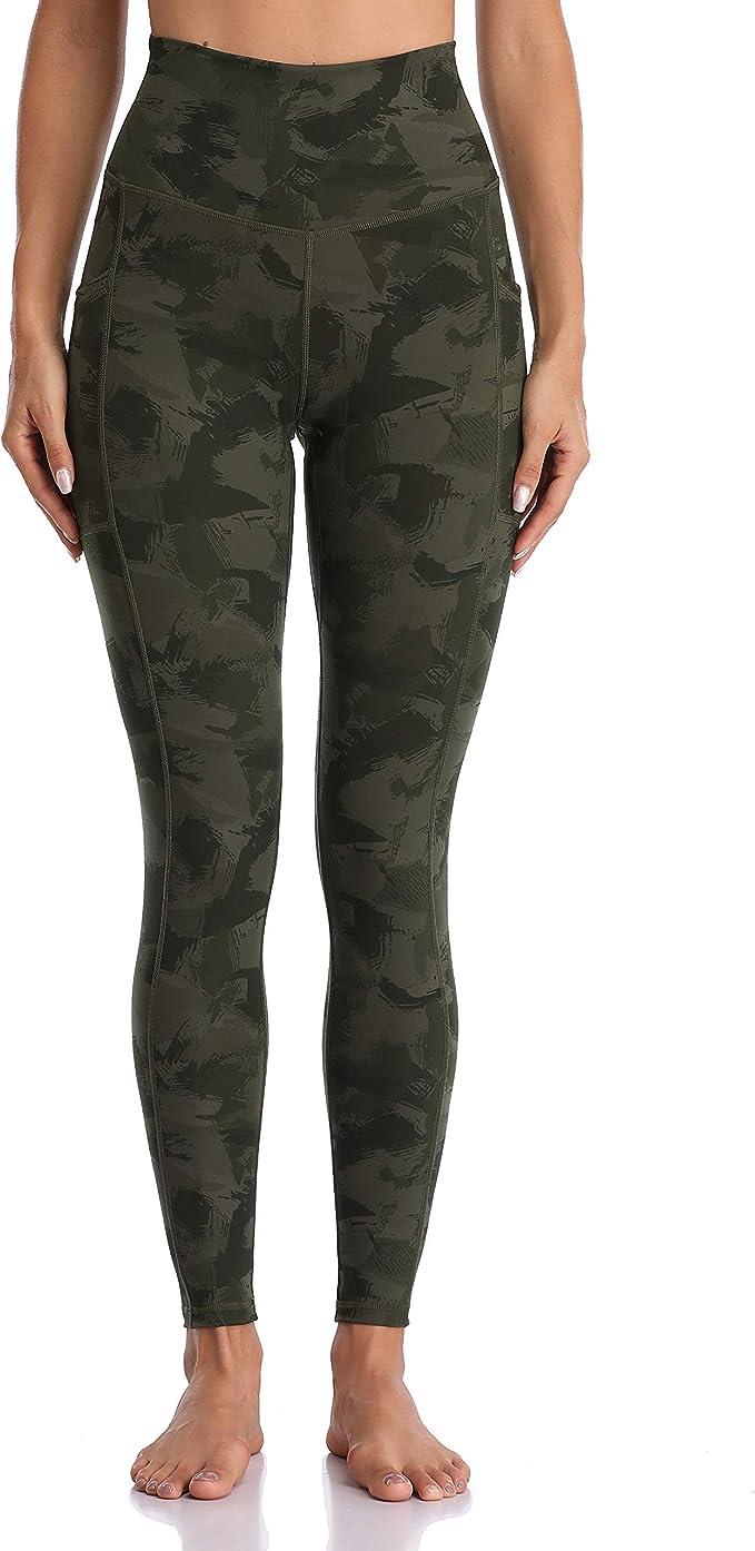 New Women high waist 2 front pockets stretch camouflage D capri  shorts-SM//LXL