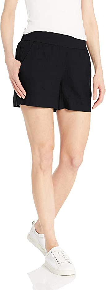 Daily Ritual Amazon Brand Women's Linen Pull-On Short