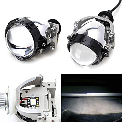 ijdmtoy® (2) 30 W LED de Alta Potencia Bi-Xenon proyector lente ...