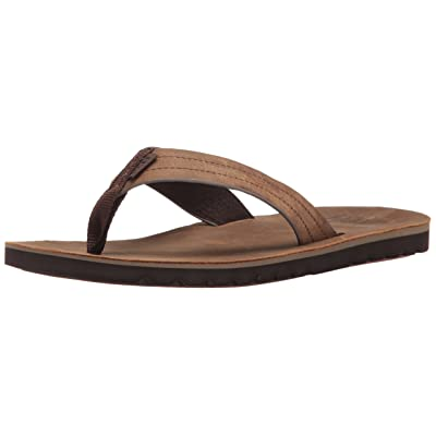 Reef Mens Sandal Voyage Le | Premium Real Leather Flip Flops for Men With Soft Cushion Footbed | Waterproof: Reef: Shoes