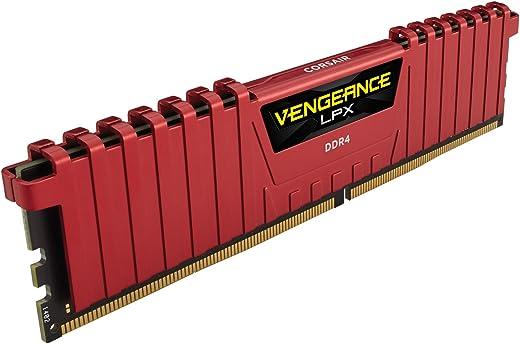 CORSAIR CMK8GX4M1A2400C14R Vengeance LPX 8GB (1x8GB) DDR4 DRAM 2400MHz C14 Memory Kit - Red