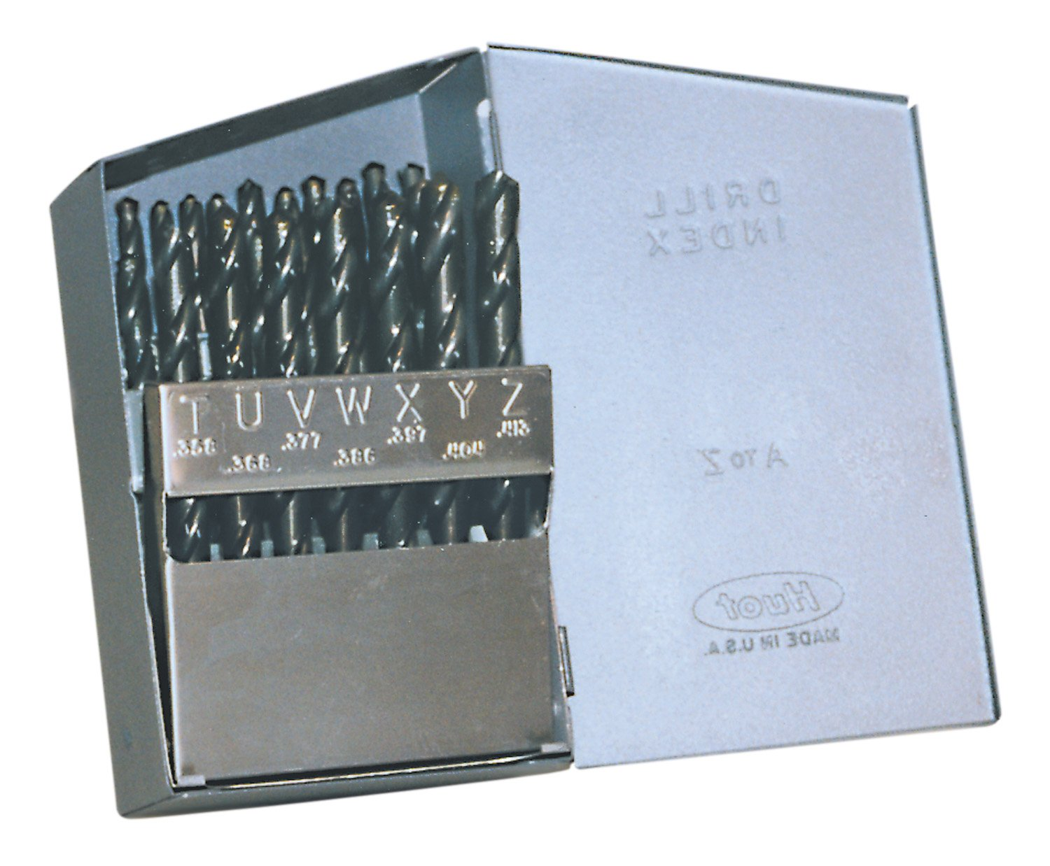 Cle-Line C21158 Style 1899 High Speed Steel General Purpose Jobber Length Drill Set, Steam Oxide Finish, A - Z Size, 26 Pieces