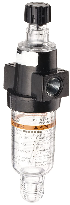 20 scfm Metal Bowl 1//4 NPT Parker 04L13GB Lubricator Manual Drain