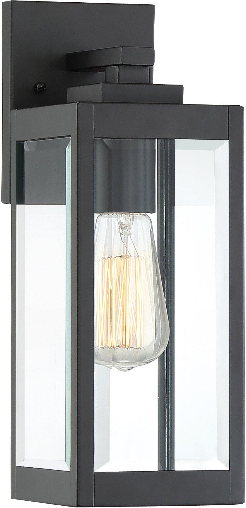 Quoizel WVR8405EK Westover Modern Industrial Outdoor Wall Sconce Lighting, 1-Light, 100 Watt, Earth Black (14''H x 5''W)