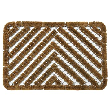 Charming Rubber Cal U0026quot;Herringboneu0026quot; Outdoor Scraper Door Mat ...