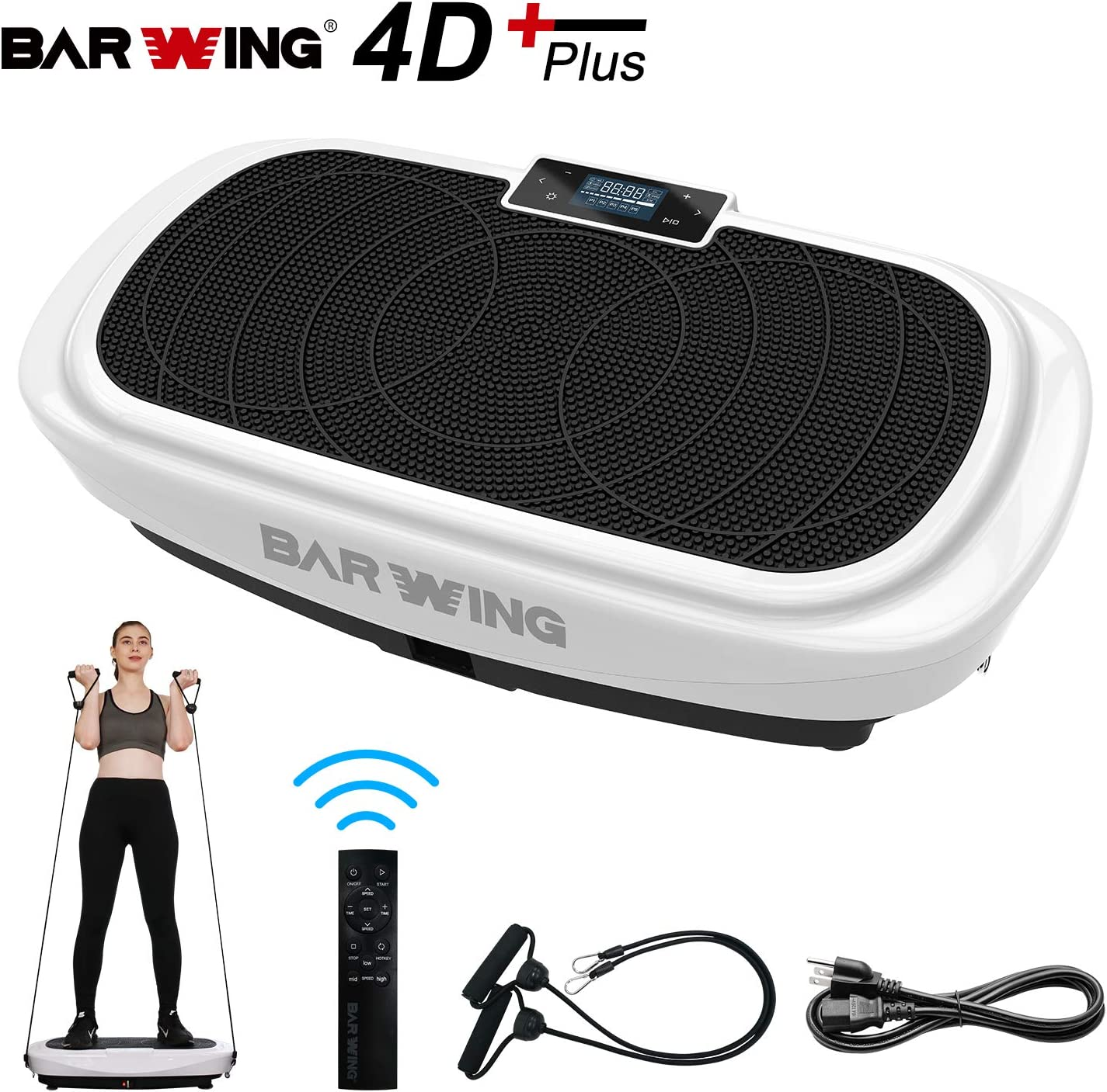 BARWING 4D Vibration Platform, Micro Vibration, Whole Body Workout Machine, Home Training Equipment Balance Trainer with Remote Control