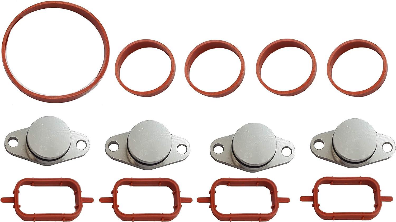 Gasket Kit 9 pcs 4 Swirl Flap Blanking Plates 1.25 E87 E46 E90 E39 E60 E61 E65 E83 E53 Twowinds 33mm