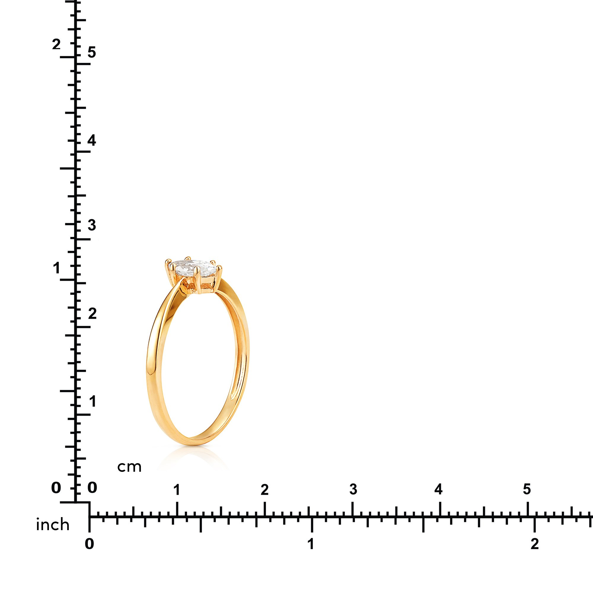 Simple Marquise CZ Stackable Promise Ring in 14K Yellow Gold (6) by Jewel Connection (Image #4)