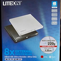 Liteon Es1 Ultra Slim Portable Usb 2 0 Dvd Writer Black Amazon Co Uk Computers Accessories