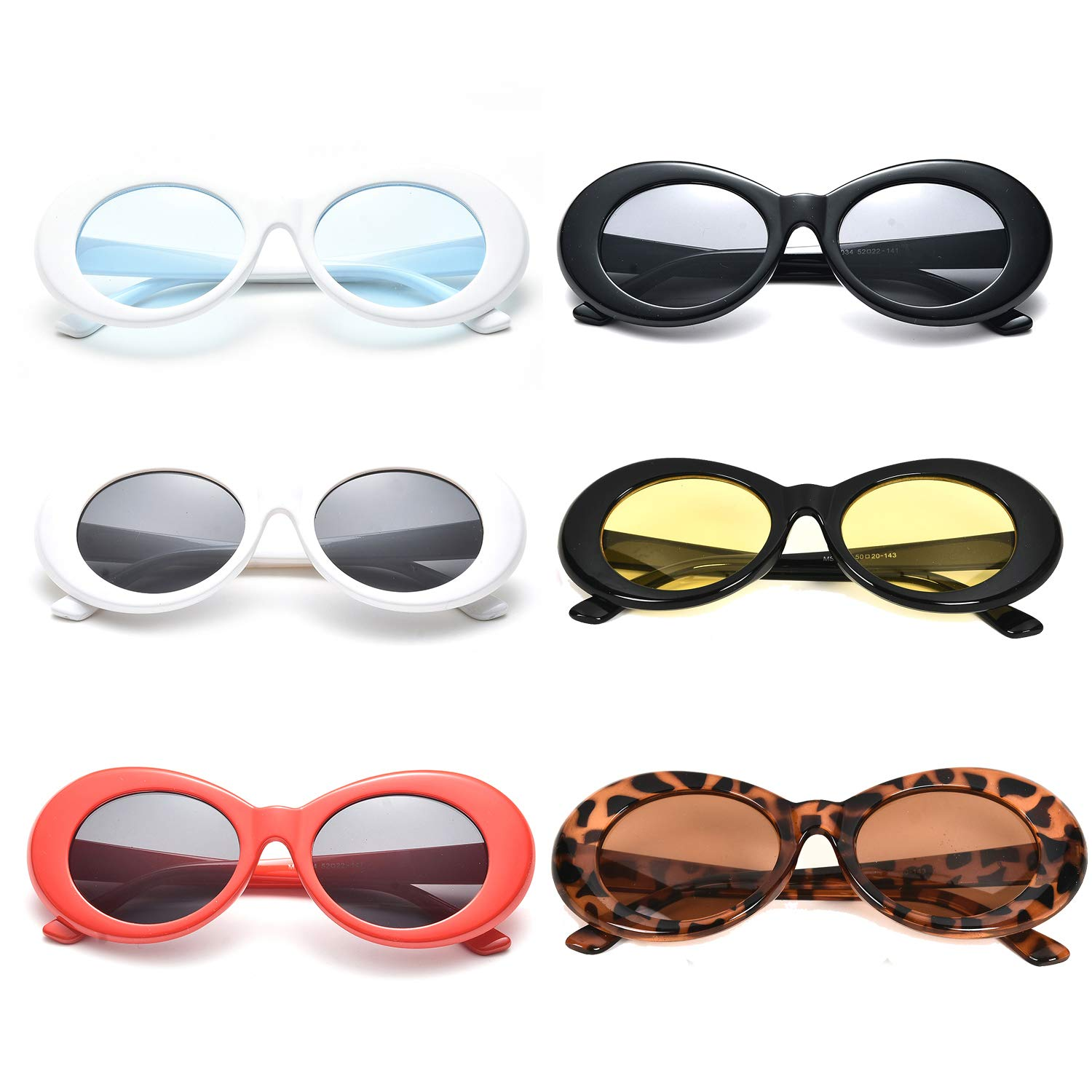 Neon Retro Oval Clout Goggles 6 Colour Wholesale 80s UV Coating Party Sunglasses Binshang