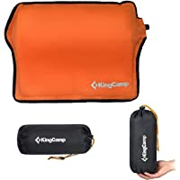 KingCamp Inflatable Car Pillow, Ultralight Self Inflating Camping Pillow Back Cushion Pillow Neck & Lumbar Support for Car Office Chair, Travel, Backpacking, Outdoor Hiking