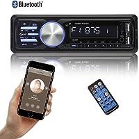 bedee Autoradio KFZ Bluetooth Audio Empfänger MP3 Player mit Freisprecheinrichtung für iPhone / iPad / iPod / Smartphone, Unterstützung USB/AUX Anschluss SD Karten ISO Anschlußkabel 1 DIN schwarz