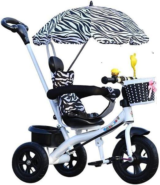 HUALQ Bicicleta de Triciclo para Niños Bicicleta Cochecito de bebé ...