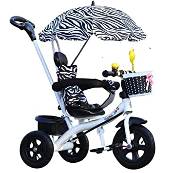 HUALQ Bicicleta de Triciclo para Niños Bicicleta Cochecito de bebé Carrito de bebé DE 1-4 Años de Edad Bicicleta: Amazon.es: Jardín