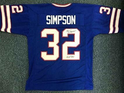newest d93b8 4a24f Signed O.J. Simpson Jersey - Coa - JSA Certified ...