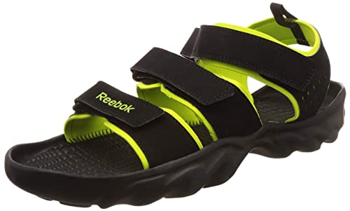 2fc167ec Reebok Men's Ultra Chrome Black/Green Floaters-7 UK (40.5 EU) (8 US ...