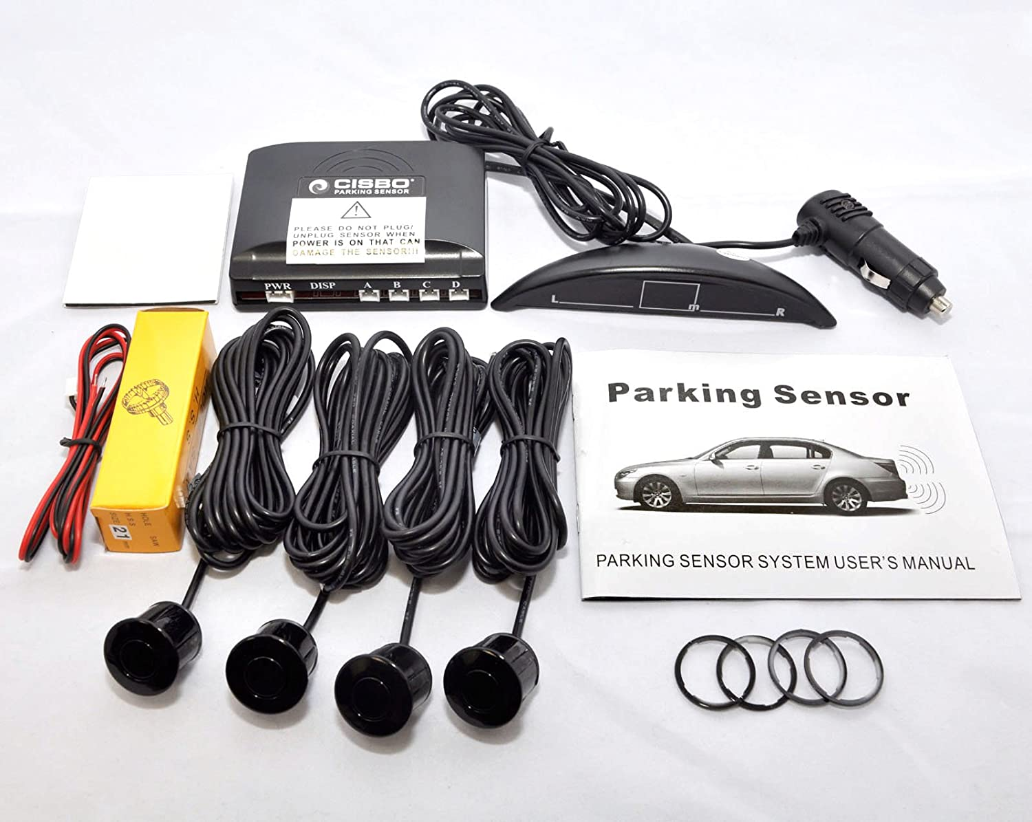 CISBO SB323 Wireless Car reversing Parking 4 Rear sensors with LED Display, Pearl White Cisbo Limited