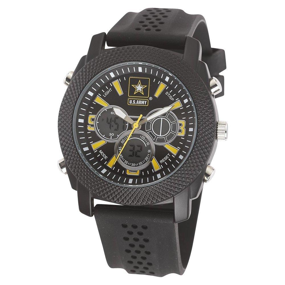US Army muñeca Armor C21 reloj BLK/BLK y Dial Amarillo Goma correa: Amazon.es: Relojes