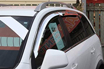 Autoclover Windabweiser Set Chrom 4 Teilig Auto