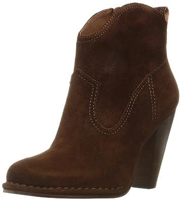 FRYE Women's Madeline Short Suede Boot, Brown, ...