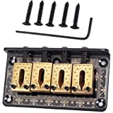 1 Set 4 String Guitar Saddle Bridge For Cigar Box Bass Guitar Parts Black