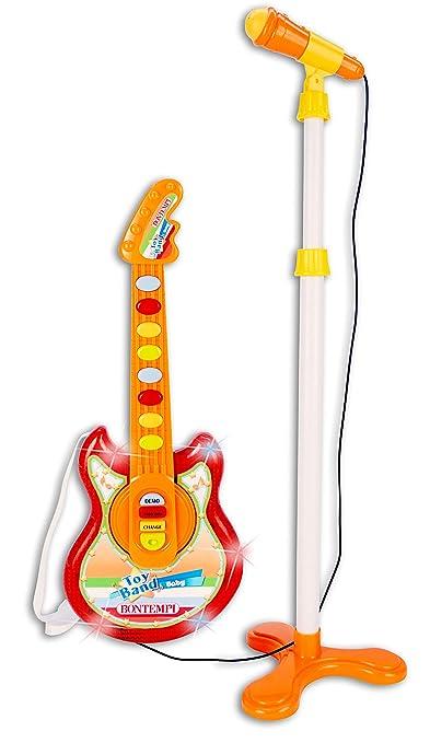 Bontempi 245025 Nuevo bebé Guitarra con micrófono: Amazon.es ...