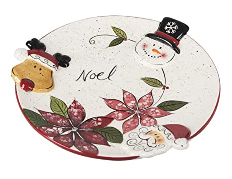 Christmas Bowls And Platters.Ganz Christmas Serving Dishes Holiday Party Platters And Soup Bowls For Festive Cookies Snacks Appetizers Dishware 9 25 Dia Serving Plate