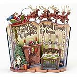 Hearwood Creek 4041100 Resina Scena dal Libro La Notte Prima del Natale Storybook, Disegno di Jim Shore, 18 cm