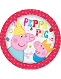 8 piatti di carta Peppa Pig and George per feste a tema