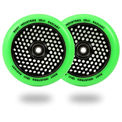 ROOT INDUSTRIES Honeycore Wheels 120mm - Radiant Green : Sports & Outdoors