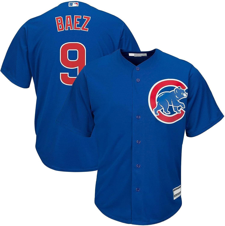 Outerstuff Javier Baez Chicago Cubs MLB Boys Kids 4-7 Player Jersey Blue Alternate, Kids 5//6
