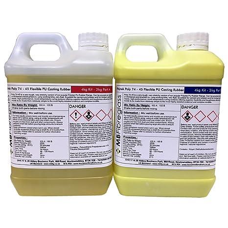 Polycraft polialgodón 74 – 45 de goma de poliuretano flexible para hormigón fundición – 4 kg