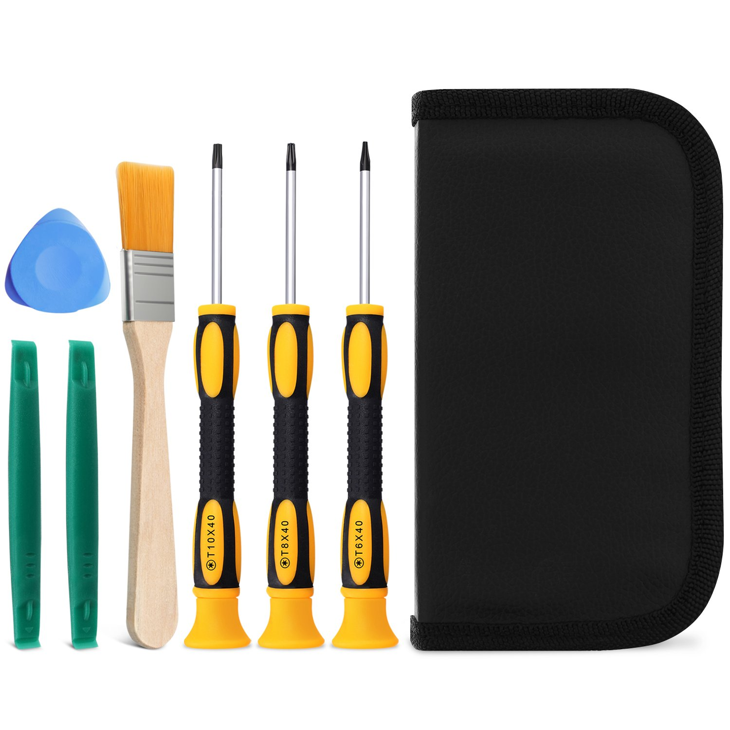 Fosmon Game Controller 7 Pieces Tool Repair Kit, T6 T8 T10 Screwdriver Set for Xbox 360, Xbox One Controller and Console, PS3, and PS4 Console A1727
