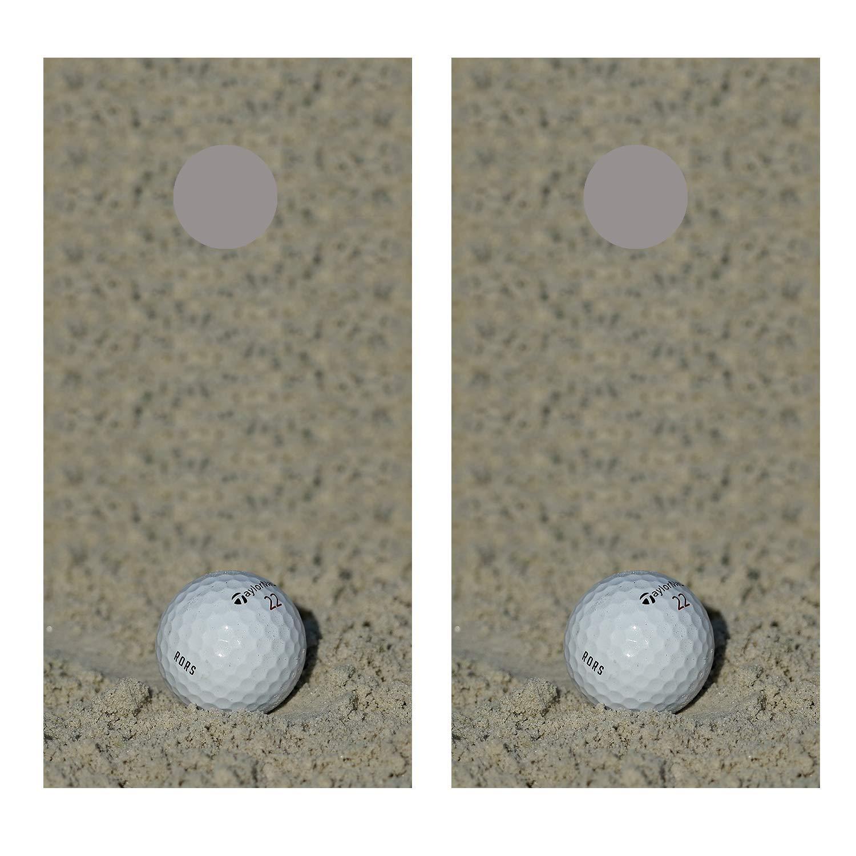 Let's Print ビッグゴルフボール オンサンド コーンホール ボード デカール ラップ  Non Laminated B07JVFB7RB