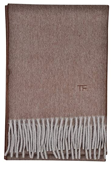 85362f15c Tom Ford Scarf Men's Light Brown Mottled Cashmere 286 cm x 25 cm:  Amazon.co.uk: Clothing