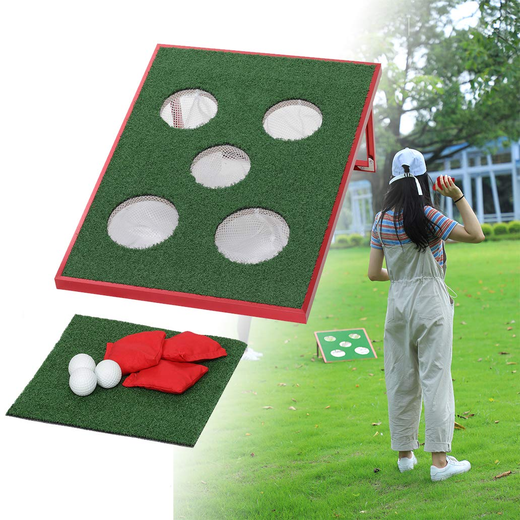 SPRAWL Outdoor Indoor Portable New Mini Golf Cornhole Single Chipping Board Game Five Holes for Beach, Backyard, Tailgate, Park, Office and Man Cave! by SPRAWL