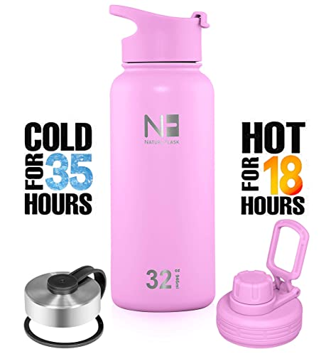 Nature Water SteelVacuum Bottle MouthDouble Bonus Wide Flask Insulated Bottle3 Stainless WalledSimple Lids OPiwkuXZTl