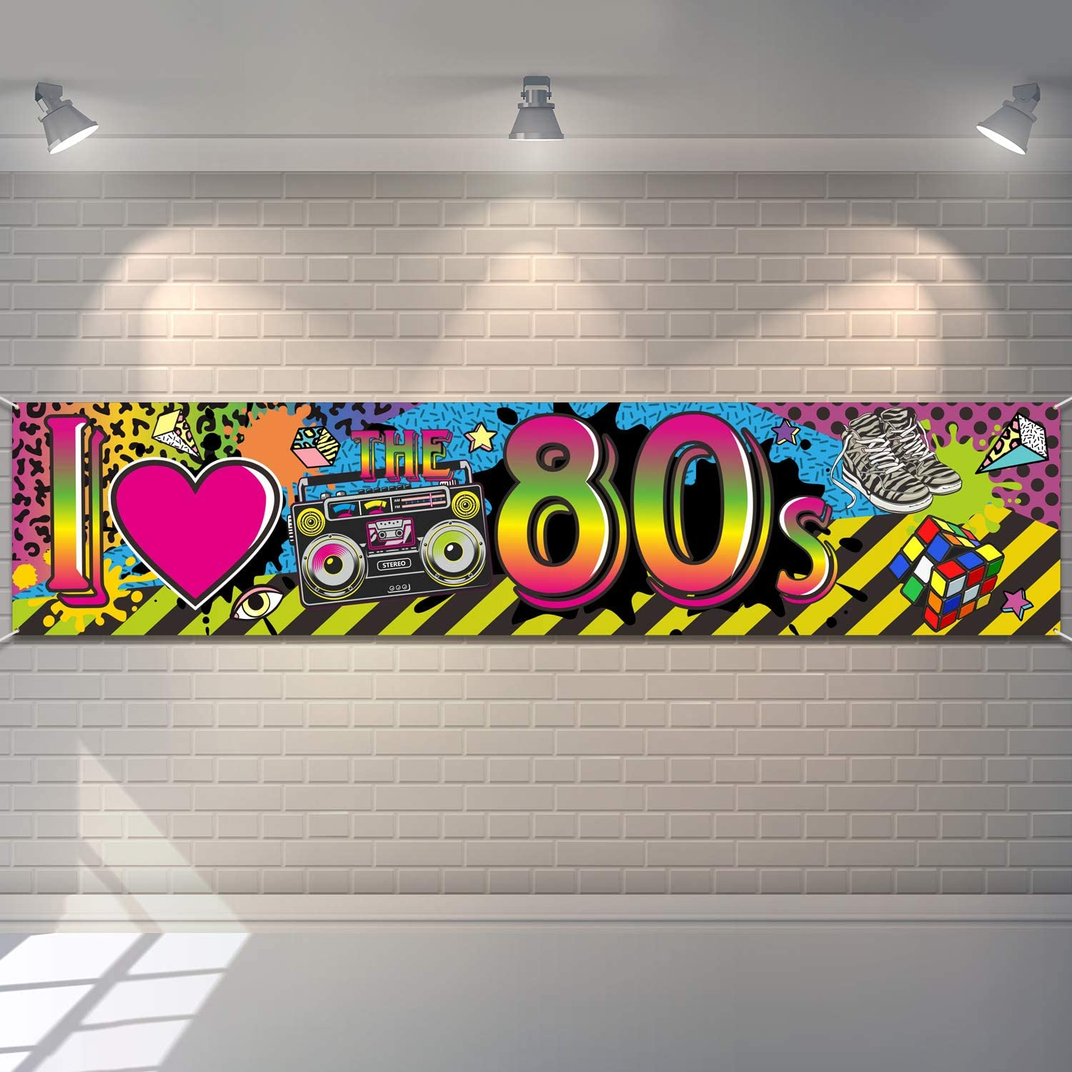 80s Party Decorations I Love Banner Sign Hop 1980s Back Free Shipping Cheap Bargain Gift Hip Max 81% OFF