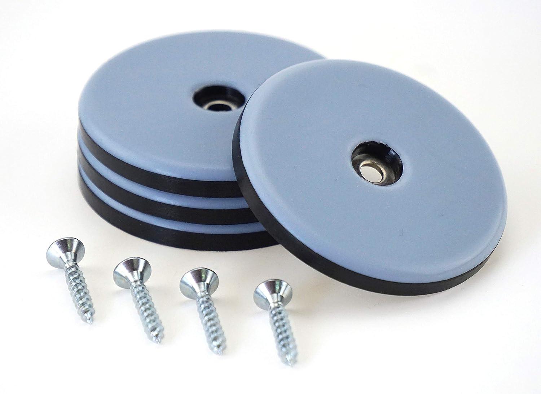 28 St/ück Teflon-M/öbelgleiter rund /Ø 30 mm Schraube 3,5 mm x 20 mm//PTFE-Beschichtung//Teflongleiter//M/öbelgleiter//Stuhlgleiter 5 mm dick inkl