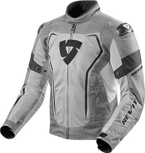 FJT243 - 3610-XL - Rev It Vertex Air Motorcycle Jacket XL Light Grey Black