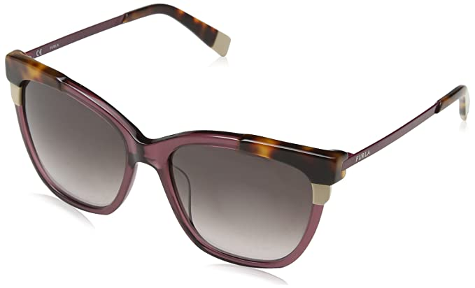 07b38467cf0 Image Unavailable. Image not available for. Color  Furla Women s SFU148 SFU  148 0W48 Plum Fashion Cat Eye Sunglasses 55mm