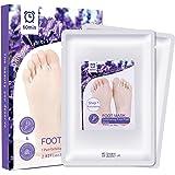 Fußmaske Fuß Peeling Maske zur Entfernung von Hornhaut 2 Paar Exfoliating Foot Maske Fuß Hornhautentferner Peeling Socken Samtweiche und zarte Füße Innerhalb von 3-7 Tagen
